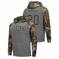 Auburn Tigers #20 Charcoal Myles Parker College Basketball Realtree Camo Raglan Hoodie