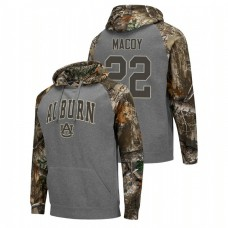 Auburn Tigers #22 Charcoal Will Macoy College Basketball Realtree Camo Raglan Hoodie