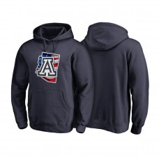 Arizona Wildcats Navy Big & Tall Banner State Pullover College Football Hoodie
