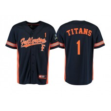 Cal State Fullerton Titans #1 Black 2017 World Series College Baseball Jersey