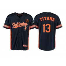 Cal State Fullerton Titans #13 Black 2017 World Series College Baseball Jersey
