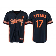 Cal State Fullerton Titans #17 Black 2017 World Series College Baseball Jersey