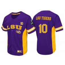 LSU Tigers #10 Purple 2017 World Series College Baseball Jersey