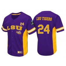 LSU Tigers #24 Purple 2017 World Series College Baseball Jersey