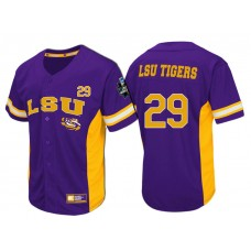 LSU Tigers #29 Purple 2017 World Series College Baseball Jersey