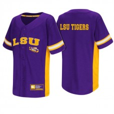 LSU Tigers Purple NCAA College Baseball Jersey