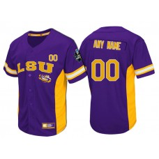 LSU Tigers Purple Strike Zone College Baseball Custom Jersey
