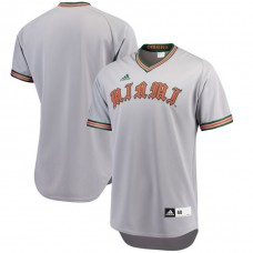 Miami Hurricanes Gray 2017 College Baseball Tournament Team Performance Jersey