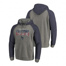 Air Force Falcons Heathered Gray Freedom Tri-Blend Big & Tall Raglan College Football Hoodie