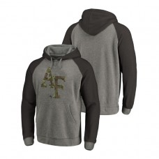 Air Force Falcons Heathered Gray Prestige Big & Tall Triblend College Football Hoodie