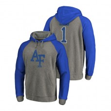 Air Force Falcons Heathered Greatest Dad Tri-Blend Big & Tall Raglan College Football Hoodie