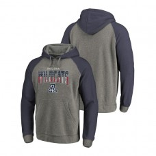 Arizona Wildcats Heathered Gray Freedom Tri-Blend Big & Tall Raglan College Football Hoodie