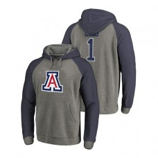 Arizona Wildcats Heathered Greatest Dad Tri-Blend Big & Tall Raglan College Football Hoodie