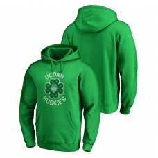 UConn Huskies Kelly Green St. Patrick's Day Fanatics Branded Luck Tradition College Football Hoodie