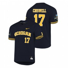 Michigan Wolverines #17 Jeff Criswell 2019 NCAA Baseball College World Series Jersey - Navy