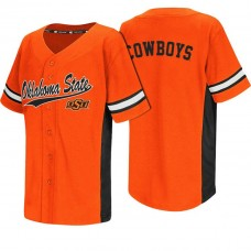 Oklahoma State Cowboys Orange Batter Up College Baseball Jersey