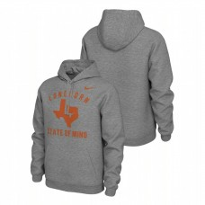Texas Longhorns # Heathered Gray Pullover Local Phrase College Football Hoodie