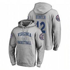 Virginia Cavaliers #12 Heathered Gray De'Andre Hunter Fanatics Branded In Bounds College Basketball Hoodie