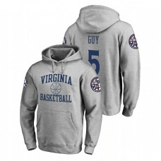 Virginia Cavaliers #5 Heathered Gray Kyle Guy Fanatics Branded In Bounds College Basketball Hoodie