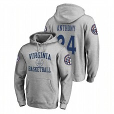Virginia Cavaliers #24 Heathered Gray Marco Anthony Fanatics Branded In Bounds College Basketball Hoodie