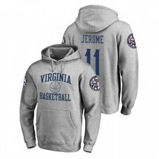 Virginia Cavaliers #11 Heathered Gray Ty Jerome Fanatics Branded In Bounds College Basketball Hoodie