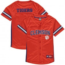 Youth Clemson Tigers Orange Button-Up Strike Zone College Baseball Jersey