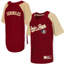 Youth Dugout Florida State Seminoles Garnet Button-Up Strike Zone College Baseball Jersey