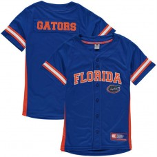 Youth Florida Gators Royal Button-Up Strike Zone College Baseball Jersey