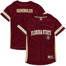 Youth Florida State Seminoles Garnet Button-Up Strike Zone College Baseball Jersey