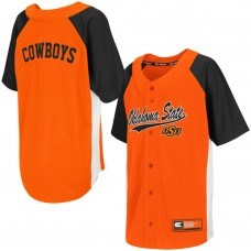Youth Oklahoma State Cowboys Orange Button-Up Strike Zone College Baseball Jersey
