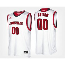 Louisville Cardinals #00 White CUSTOM College Basketball Jersey