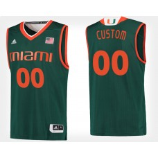 Miami Hurricanes #00 Green CUSTOM College Basketball Jersey