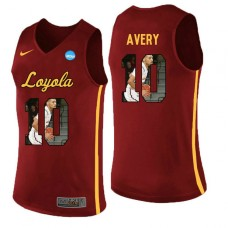 Loyola (Chi) Ramblers #10 Adarius Avery Red College Basketball Jersey