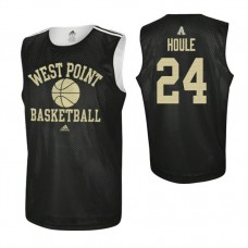 Army Black Knights #24 Jason Houle Practice Black Jersey
