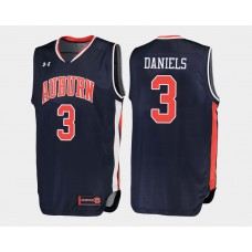 Auburn Tigers #3 Marquis Daniels Navy Road College Basketball Jersey