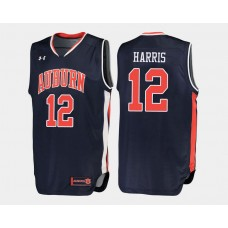 Auburn Tigers #12 Tyler Harris Navy Road College Basketball Jersey