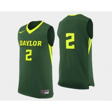 Baylor Bears #2 Rico Gathers Green Road College Basketball Jersey