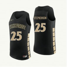Wake Forest Demon Deacons #25 Ariel Stephenson Black College Basketball Jersey