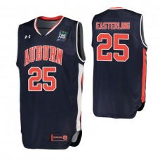 Auburn Tigers #25 Brett Easterling Navy 2019 Final Four College Basketball Jersey