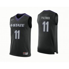 Kansas State Wildcats #11 Brian Patrick Black College Basketball Jersey