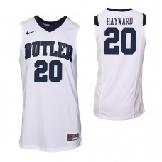 Butler Bulldogs #20 Gordon Hayward White Jersey
