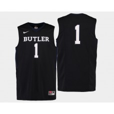 Butler Bulldogs #1 Tyler Lewis Black Road College Basketball Jersey