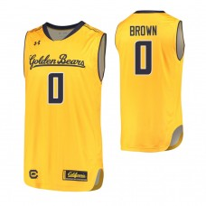 California Golden Bears #0 Jaylen Brown Gold Jersey