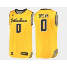 California Golden Bears #0 Jaylen Brown Gold Alternate College Basketball Jersey