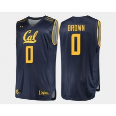 California Golden Bears #0 Jaylen Brown Navy Road College Basketball Jersey
