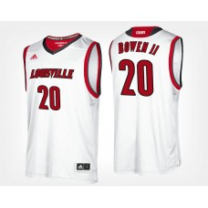 Louisville Cardinals #20 Brian Bowen II White Road College Basketball Jersey