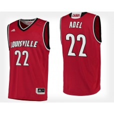 Louisville Cardinals #22 Deng Adel Red Home College Basketball Jersey