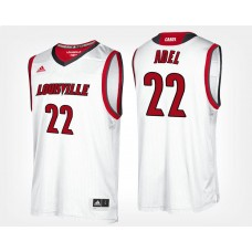 Louisville Cardinals #22 Deng Adel White Road College Basketball Jersey