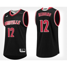 Louisville Cardinals #12 Jacob Redding Black Alternate College Basketball Jersey