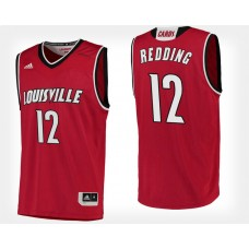 Louisville Cardinals #12 Jacob Redding Red Home College Basketball Jersey